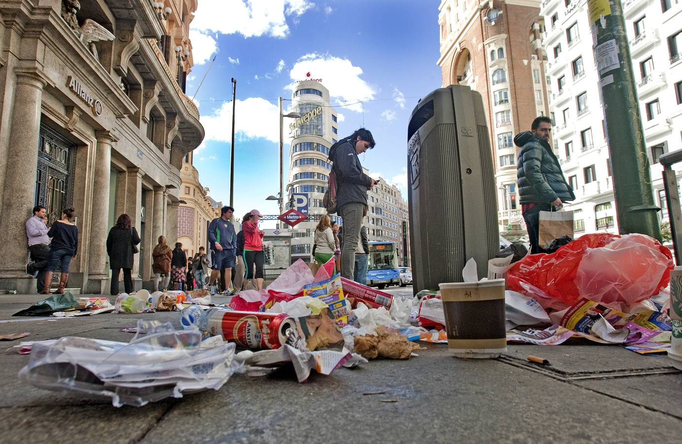 Madrid, impotente ante la basura