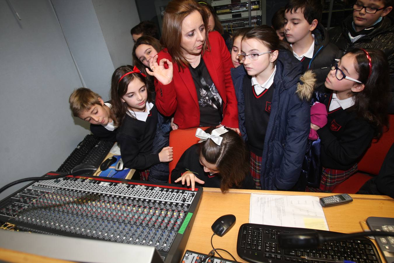Visita de los alumnos de 5º A del Colegio La Enseñanza (I)