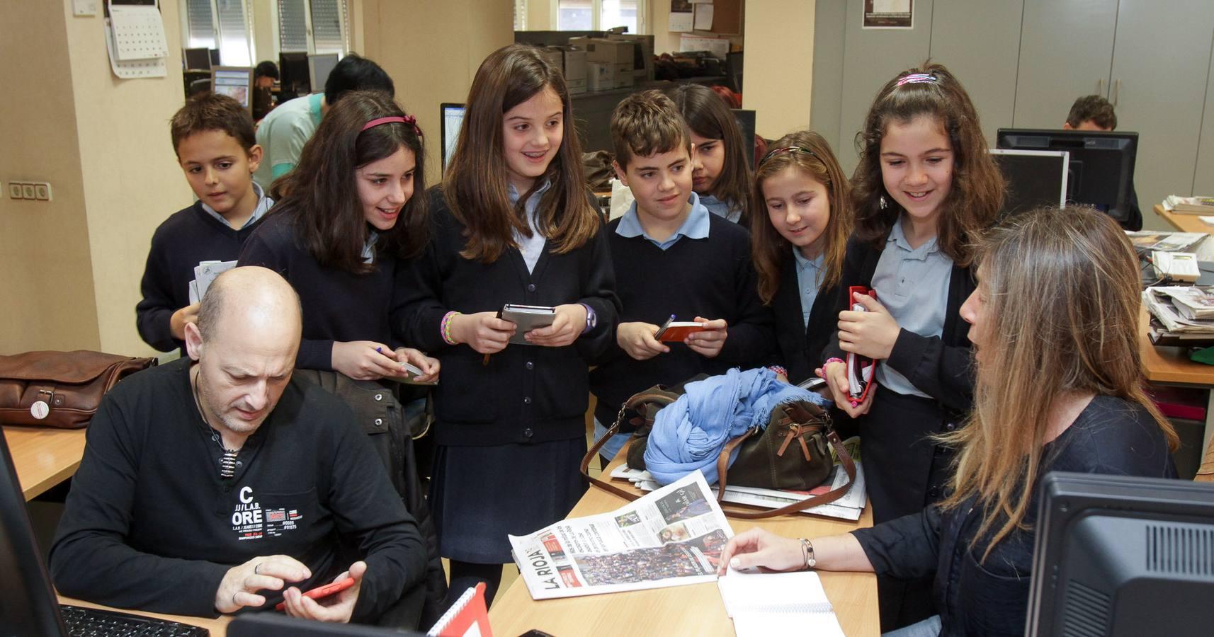 Los alumnos de 5º de Primaria del Colegio Paula Montal visitan la multimedia de Diario LA RIOJA