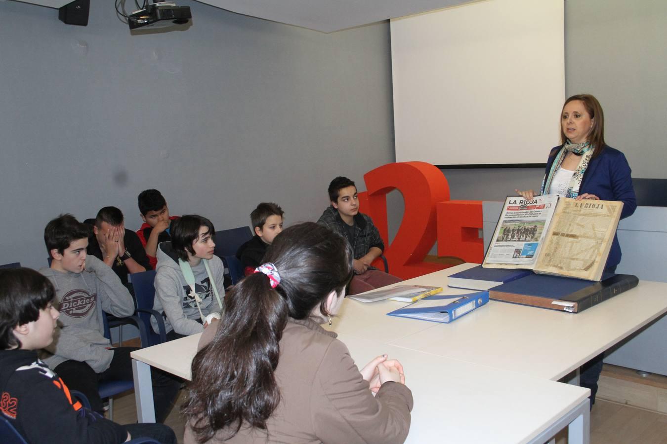 2º de la ESO del Sagasta visita la Multimedia La Rioja